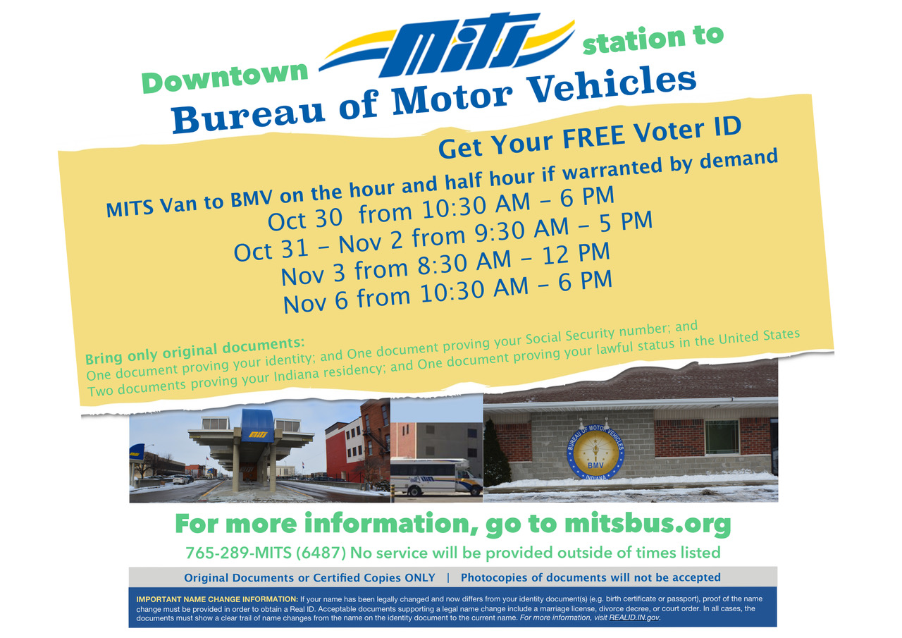 Transit Muncie Landscape Indiana Bmv Poster To System Mits