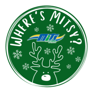 Where's Mitsy the Reindeer Logo