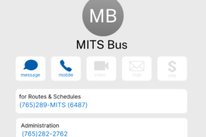 MITS Bus contact information
