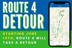 MITS route 4 is detouring starting June 14th